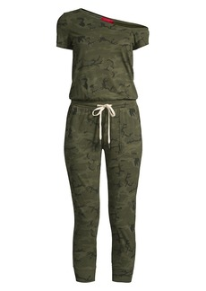 n:Philanthropy Britton One-Shoulder Camo Jumpsuit