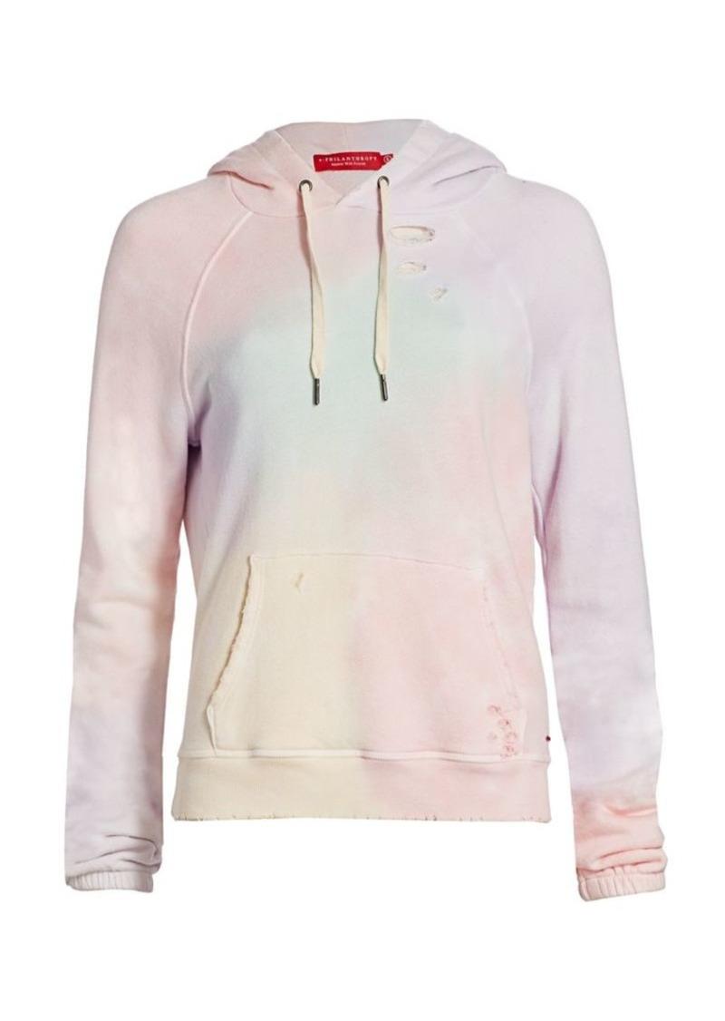 n:Philanthropy Gamble Tie Dye Distressed Sweatshirt