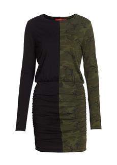 n:Philanthropy Grant Half Camo Colorblock Bodycon Dress