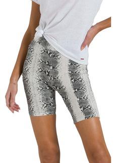 n:Philanthropy Hale Snake Skin Print Biker Shorts