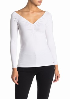 n:Philanthropy Harriett Ruched Long Sleeve Top