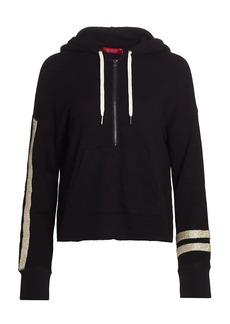 n:Philanthropy Hickory Hooded Metallic Stripe Sweatshirt