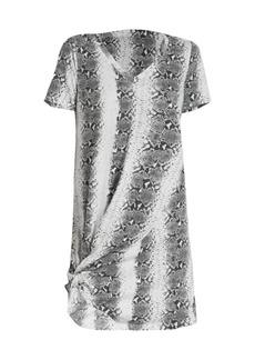 n:Philanthropy Leonardo Twist-Hem Snakeskin T-Shirt Dress