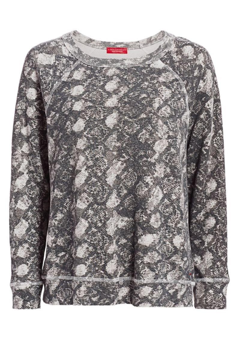n:Philanthropy Montreal Python Print Sweatshirt