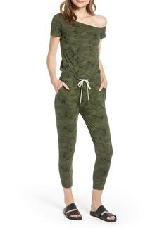 n:PHILANTHROPY Britton One-Shoulder Crop Jumpsuit