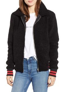 n:PHILANTHROPY Gray Faux Fur Track Jacket