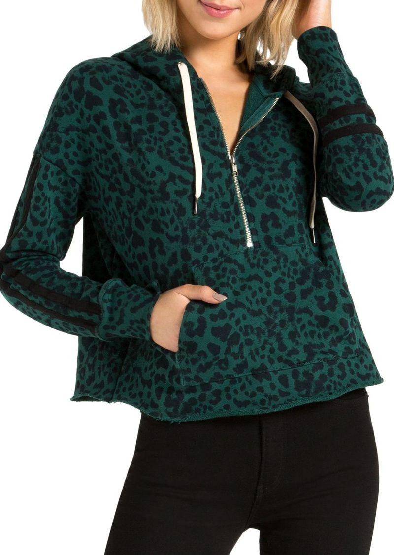 n:philanthropy Hickory Jaguar-Print Half-Zip Hooded Sweatshirt