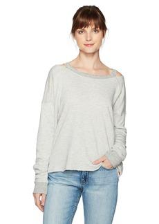 n:PHILANTHROPY Women's Petra Destructed Sweatshirt with Zip Sleeves