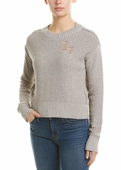 n:PHILANTHROPY Women's Shell Deconstructed Sweater Heather Silver