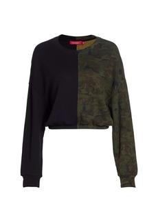 n:Philanthropy Ronan Half Camo Colorblock Sweatshirt
