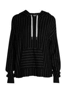 n:Philanthropy Victory Striped Hooded Sweatshirt