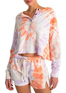 Women's N:philanthropy Harleen Front Button Crop Sweatshirt
