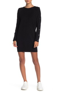 n:Philanthropy Zorian Sleeve Snap Button Knit Dress