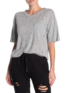 NSF Anderson Oversized Patch Pocket Distressed T-Shirt