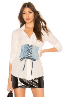 NSF Boyde Lace Up Top