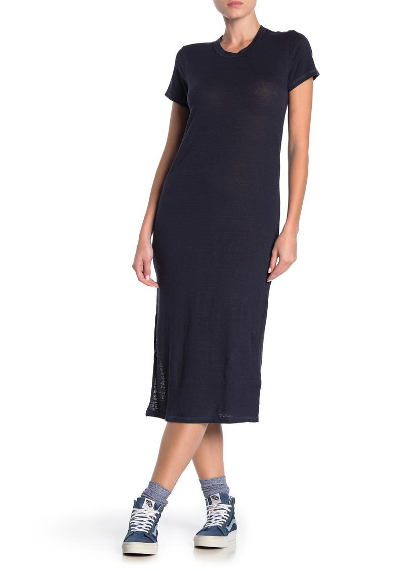 NSF Leah Linen Blend Midi T-Shirt Dress