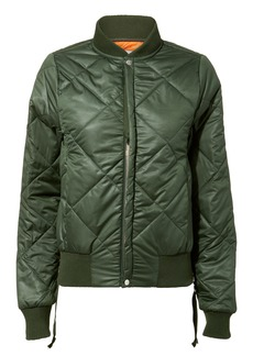 NSF Neil Olive Green Quilted Bomber Jacket