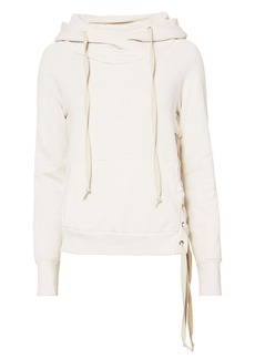 NSF Enzo Soft White Lace-Up Side Sweatshirt