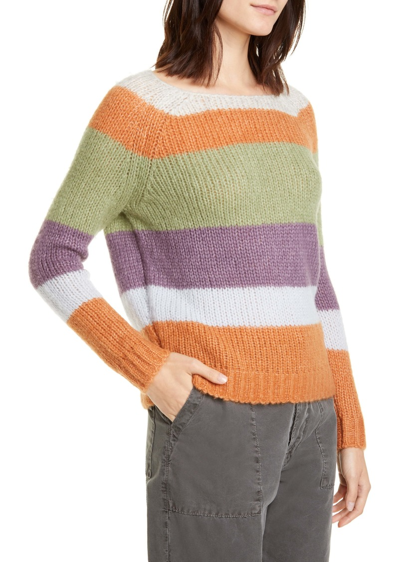 NSF Clothing Daja Stripe Raglan Sleeve Sweater