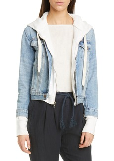 NSF Clothing Nala Hooded Cotton Denim Jacket