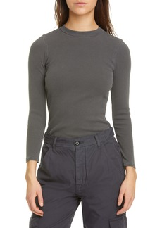 NSF Clothing Piper Mock Neck Rib Top