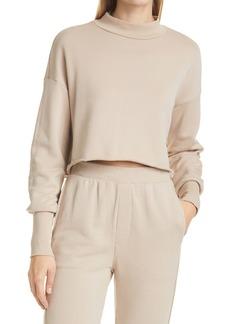 NSF Clothing Rio Women's Mock Neck Crop Sweatshirt