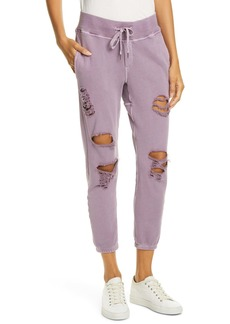 NSF Clothing Sayde Distressed Slouchy Sweatpants