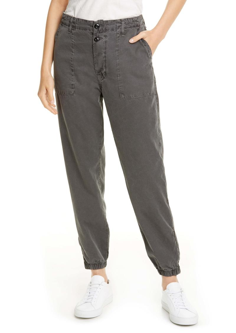 NSF Clothing Zoe Zip Hem Cotton Jogger Pants