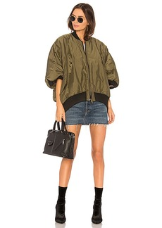 NSF Motley Bomber Jacket in Olive. - size L (also in M,S)