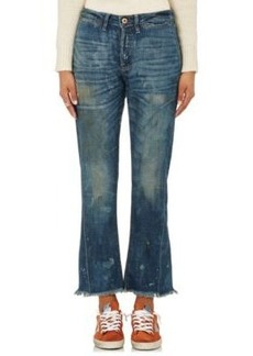NSF Women's Aero Distressed Crop Flared Jeans
