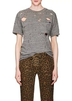 NSF Women's Anderson Distressed Mélange Cotton T-Shirt