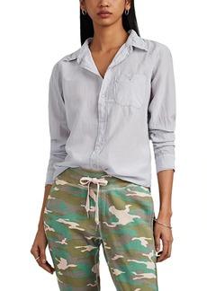 NSF Women's Barra Cotton-Silk Voile Button-Front Blouse