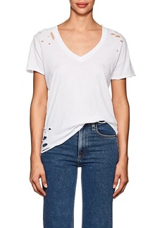 NSF Women's Cielo Distressed Cotton T-Shirt