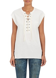 NSF Women's Cotton Lace-Up Jersey T-Shirt