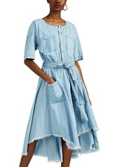 NSF Women's Dottie Cotton Chambray Belted Shirtdress