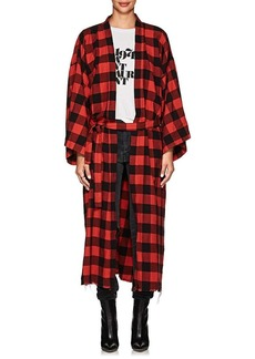 NSF Women's Hannah Checked Cotton Robe Coat