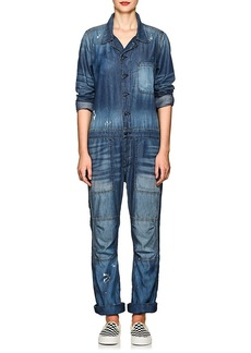 NSF Women's Harlen Distressed Chambray Jumpsuit