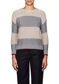 NSF Women's Ingrid Striped Distressed Cotton Sweater