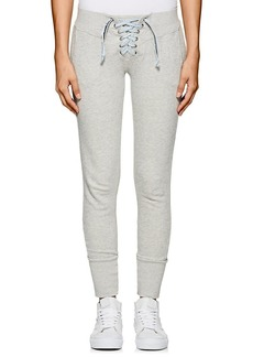 NSF Women's Lace-Up Cotton French Terry Sweatpants