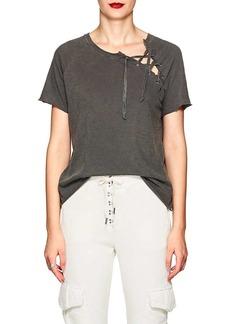 NSF Women's Lace-Up Cotton T-Shirt