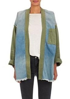 NSF Women's Marley Denim & Canvas Kimono Jacket