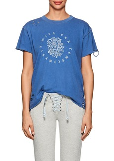 NSF Women's Moore Rose-Print Distressed Cotton T-Shirt