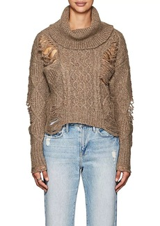 NSF Women's Odelia Distressed Wool-Blend Sweater