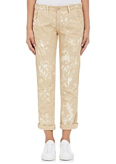 NSF Women's Paint-Splatter Cotton Canvas Pants