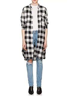 NSF Women's Pepper Checked Cotton Flannel Oversized Shirt