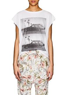 NSF Women's Photo-Print Cotton Sleeveless T-Shirt