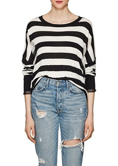 NSF Women's Presley Distressed Striped Cotton Sweater