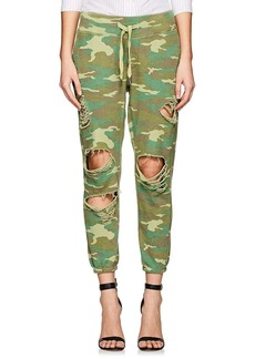 NSF Women's Sayde Distressed Camouflage Cotton Sweatpants