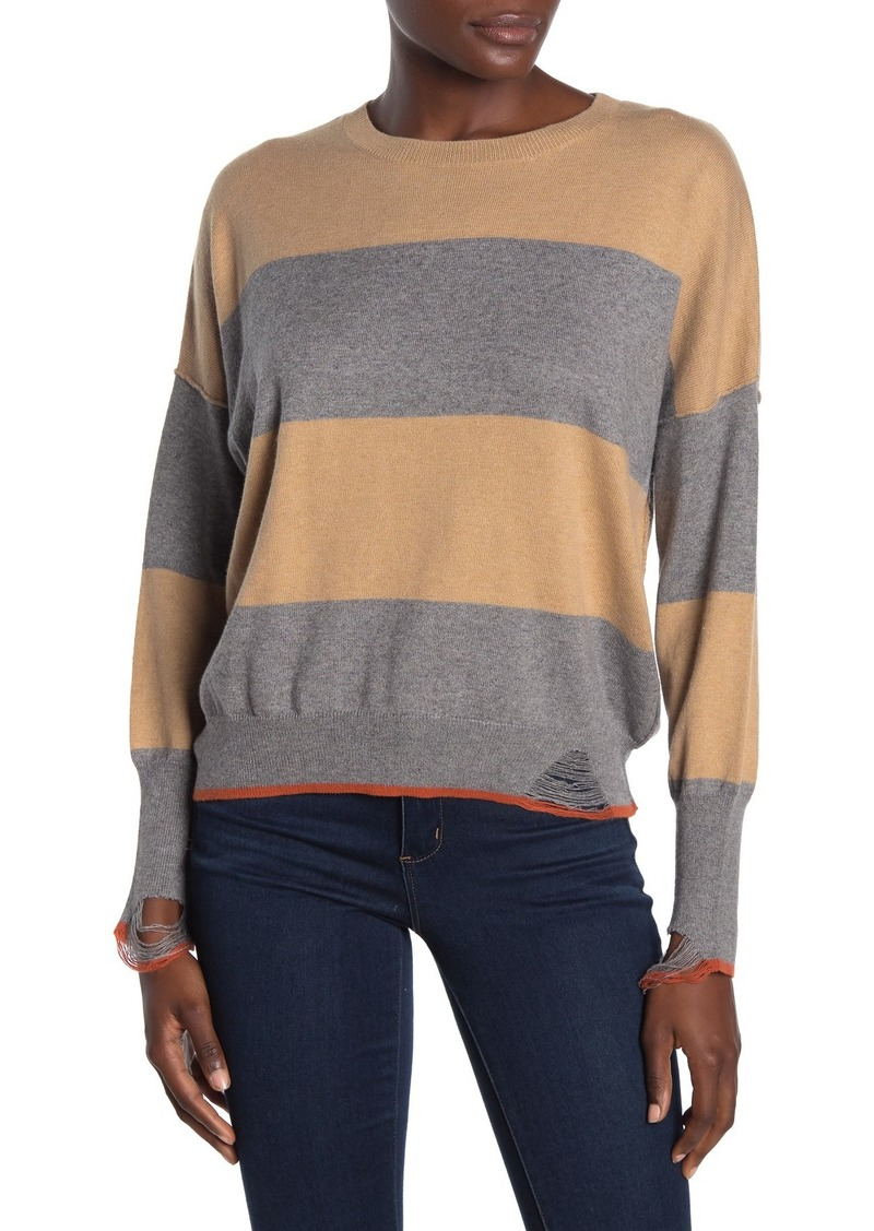 NSF Presley Distressed Stripe Sweater