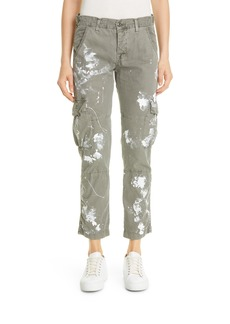 Women's Nsf Clothing Basquiat Paint Splatter Cargo Pants